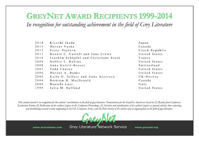Outstanding Achievements in Grey Literature